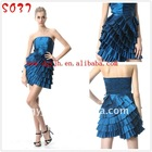 Hot Sell Strapless Sexy Royal Blue Cocktail Dress Evening S037