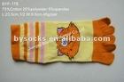 PVC printed knitting pattern five fingers socks five toe socks