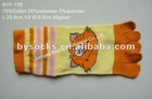 PVC printed knitting pattern five fingers socks five toe socks