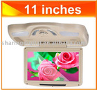 11 ''car flip down monitor with dvd player Compatible with DVD(MPEG4