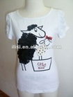 newest t shirt design for women sequined with prints
