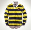 fashion long sleeve stripe polo Tee shirt for men