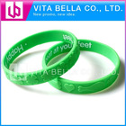 Color Filled Advertising Silicone Bracelet silicone wristbands custom