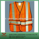 Orange reflectitive material workwear vests