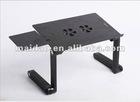 Fold Aluminum laptop table with Fan