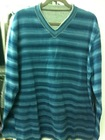 Mens fashion V-Neck double trim space dye Pullover sweater