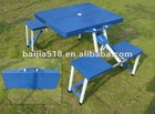 kids plastic folding garden table with seat, blue color