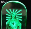 glass Jesus with LED light/glass art and craft