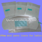 180mm ultra thin panty liners (soft,colorful,daily use )