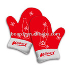 Rpet Xmas new stylish red glove