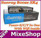 Sunray sr4 800 hd se with wifi triple tuner S/C/T tuner satellite receiver