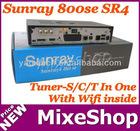 Sunray sr4 800 hd se with wifi triple tuner S/C/T tuner satellite receiver