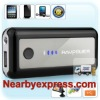Black 5600mAh/1A Power Bank with 7 DC Tips and Built-in Flashlight for Tablets PC for iPhone
