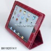 Chic Red Alligator Skin PU stander case for Pad 2