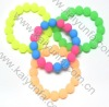 Cute design rubber beads shape bracelet. silicone beads bracelet