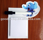 magnetic memo pads with marker of lovely elephant