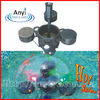 Hot sale pond equipment with float fountain and skimmer