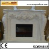 Natural stone White Marble Fireplace