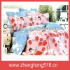 printed cotton bed cover set