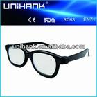 low price plastic fireworks glasses, diffraction glasses