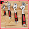 Adjustable hand wrench with 2-Color Rubber Handle