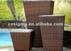 Outdoor Woven PE Rattan 3 pc Planter Set