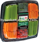 plastic food tray with compartments