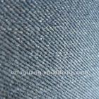Slub denim 10OZ indigo colored cotton polyester twill fabric
