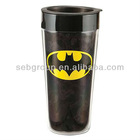 plastic coffee mug with insert paper (BPA Free)