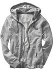 Men's long sleeves T/C french terry full zip hoodie sweatshirt