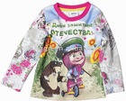 F3239#CREAM Ready made quality kids wear wholesale girl martha cartoon t shirt