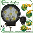 highh quality 18W led work lamp DC9-32V IP67