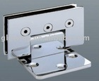 90 degree No Mouse Ears Square Single Side Chrome Plated Brass Glass Hinge