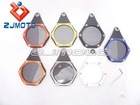 Motorbike Motorcycle All Aluminium tax disc holder with ( O ) ring seal licence holder