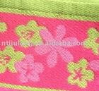 100% cotton yarn dyed woven jacquard beach bath towel
