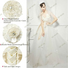 S1266 Real Picture Spaghetti Strap Wedding Tulle Dress with Ribbon Shoulder
