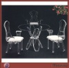Modern Clear Fashionable Acrylic/perspex Table And Chairs