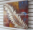 High Resolution Leaves Canvas Painting Reproduction