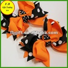 Halloween holiday hair bows for little girls / kids hair accessories (FB013497)