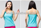 Women's fitted tank top with lace direction