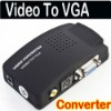PC/Laptop AV/S Video To VGA TV Converter Adapter Box