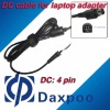 4 pin laptop power dc cable for laptop adapter