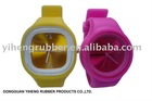 jelly silicone wide bracelet watch