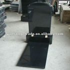 shanxi black granite tombstone design