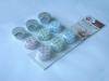 Chocolate cup 12pcs/set ,polka dot design,round shape