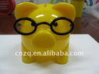 New design plastic doctor piggy bank with glasses