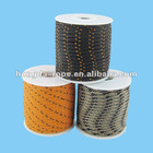 3 mm Multifilament polypropylene cord braided black with orange line