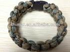 "Para-Cord Survival Bracelet ""Desert Camo"" 9 Inch"