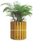 Outdoor free stand Wooden Flowerpot