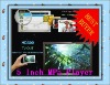 Newest 5-inch Full HD Touch Screen 4GB/8GB MP5 With TV Out